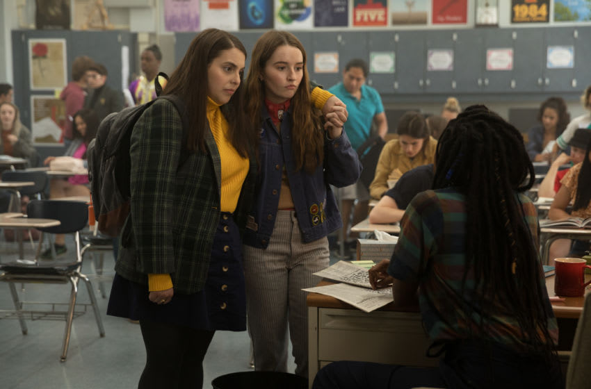 BS_02851_R Beanie Feldstein stars as Molly, Kaitlyn Dever as Amy and Jessica Williams as Miss Fine in Olivia Wilde's directorial debut, BOOKSMART, an Annapurna Pictures release. Credit: Francois Duhamel / Annapurna Pictures