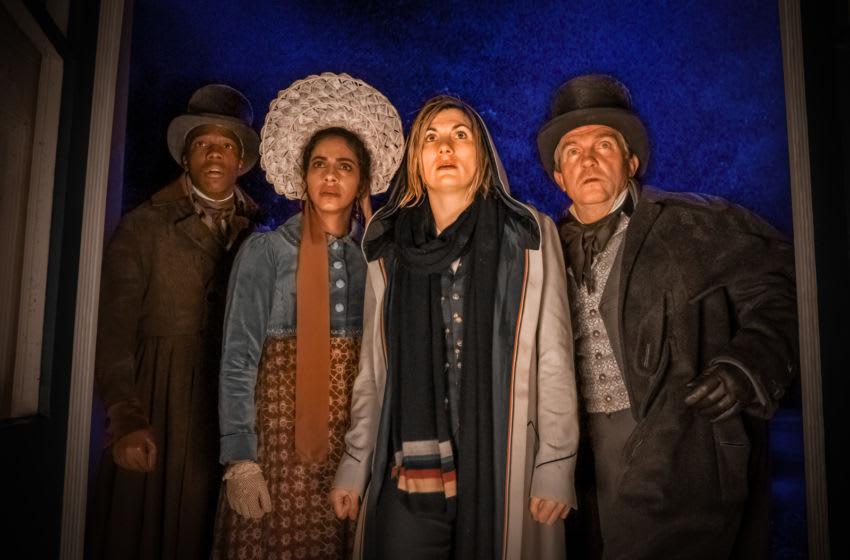 Tosin Cole as Ryan, Mandip Gill as Yaz, Jodie Whittaker as The Doctor, Bradley Walsh as Graham - Doctor Who _ Season 12, Episode 8 - Photo Credit: Ben Blackall/BBC Studios/BBC America