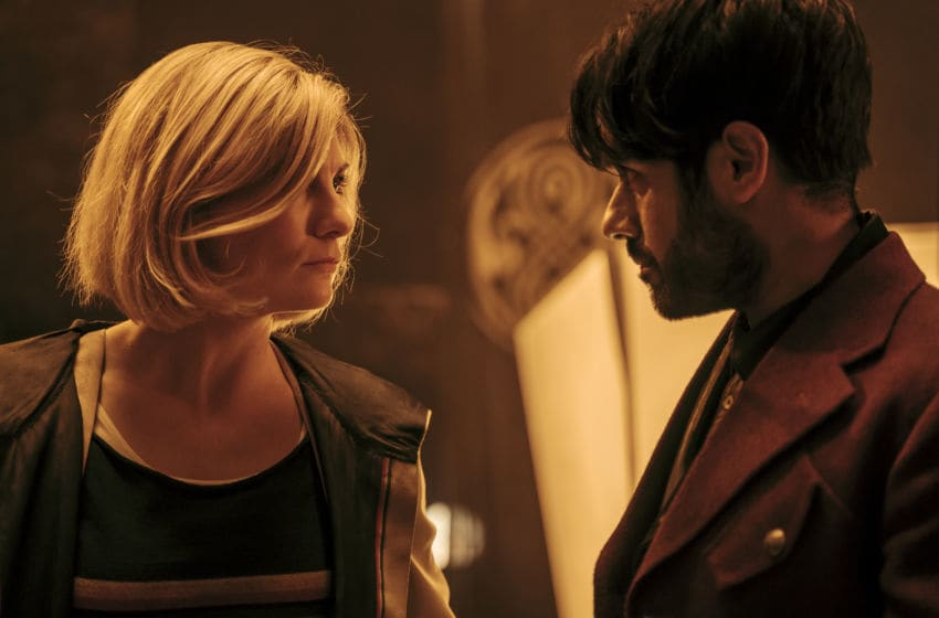 Jodie Whittaker as The Doctor, Sacha Dhawan as The Master - Doctor Who _ Season 12, Episode 10 - Photo Credit: James Pardon/BBC Studios/BBC America