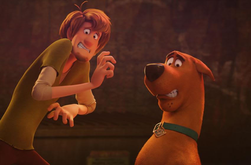 """(L-r) Shaggy voiced by WILL FORTE and Scooby-Doo voiced by FRANK WELKER in the new animated adventure """"SCOOB!"""" from Warner Bros. Pictures and Warner Animation Group. Courtesy of Warner Bros. Pictures"""