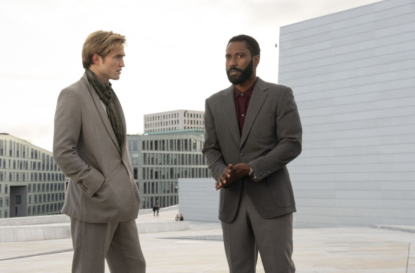 (L-r) ROBERT PATTINSON and JOHN DAVID WASHINGTON in Warner Bros. Pictures' action epic
