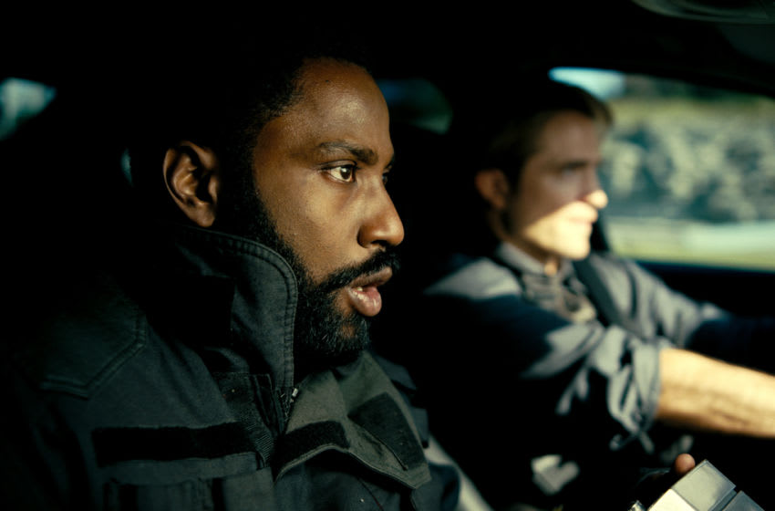 (L-r) JOHN DAVID WASHINGTON and ROBERT PATTINSON in Warner Bros. Pictures' action epic