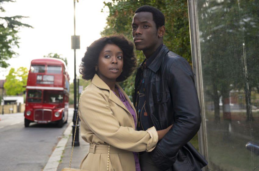 Small Axe. Pictured: Amarah-Jae St. Aubyn as Martha (left) and Micheal Ward as Franklyn (right) in