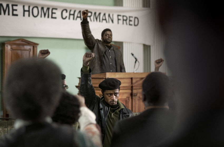 "(Center front-back) LaKEITH STANFIELD as William O'Neal and DANIEL KALUUYA as Chairman Fred Hampton in Warner Bros. Pictures' ""JUDAS AND THE BLACK MESSIAH,"" a Warner Bros. Pictures release. Photo Credit: Glen Wilson © 2020 Warner Bros. Entertainment Inc. All Rights Reserved"