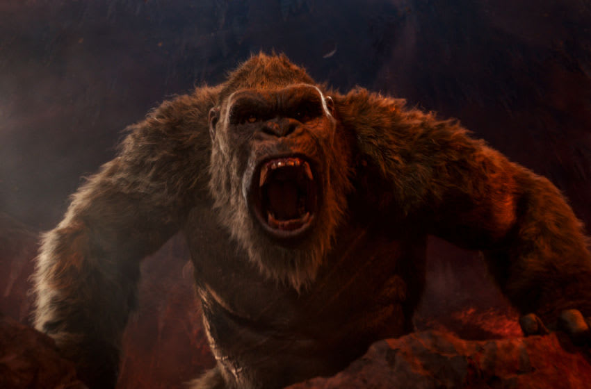 "KONG in Warner Bros. Pictures' and Legendary Pictures' action adventure ""GODZILLA VS. KONG,"" a Warner Bros. Pictures and Legendary Pictures release. © 2021 LEGENDARY AND WARNER BROS. ENTERTAINMENT INC. ALL RIGHTS RESERVED. GODZILLA TM & © TOHO CO., LTD."