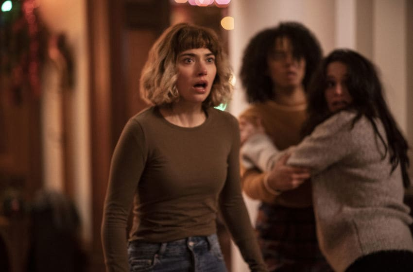 (from left) Riley (Imogen Poots), Kris (Aleyse Shannon) and Marty (Lily Donoghue) in