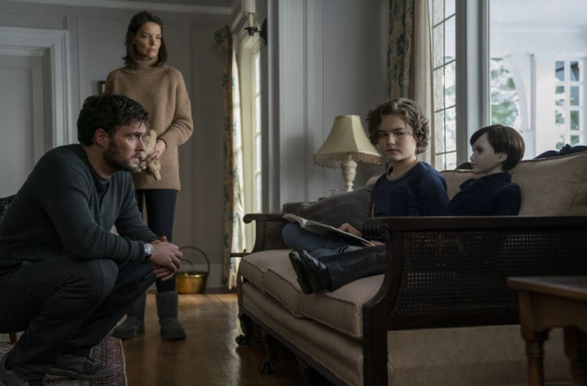Owain Yeoman, Katie Holmes and Christopher Convery star in BRAHMS: The Boy II
