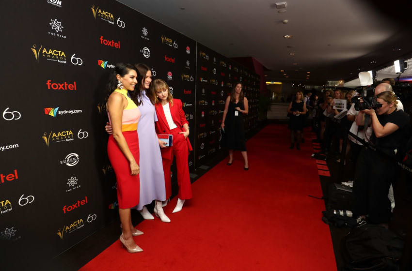 SYDNEY, AUSTRALIA - DECEMBER 03: Nicole Chamoun, Lily Sullivan and Markella Kavenagh attend the 2018 AACTA Awards Presented by Foxtel | Industry Luncheon at The Star on December 3, 2018 in Sydney, Australia. (Photo by Mark Metcalfe/Getty Images for AFI)