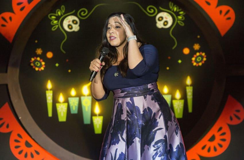 PALA, CALIFORNIA - MAY 03: Comedian Gina Brillon performs on stage at Pala Casino Resort and Spa on May 03, 2019 in Pala, California. (Photo by Daniel Knighton/Getty Images)