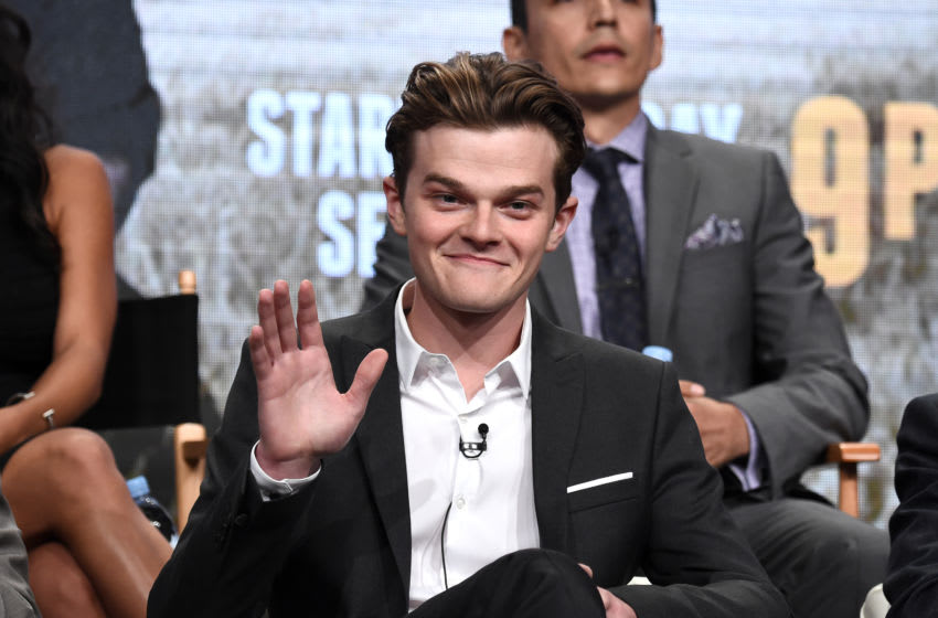 BEVERLY HILLS, CA - AUGUST 01: In this handout photo provided by Discovery, Actor Robert Aramayo of 'Harley and the Davidsons' speaks onstage during the 'Discovery Channel' portion of the TCA Summer Event 2016 at The Beverly Hilton Hotel on August 1, 2016 in Beverly Hills, California. (Photo by Amanda Edwards/ Discovery via Getty Images)