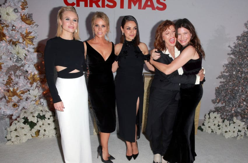WESTWOOD, CA - OCTOBER 30: (L-R) Kristen Bell, Cheryl Hines, Mila Kunis, Susan Sarandon, and Kathryn Hahn attend the premiere of STX Entertainment's