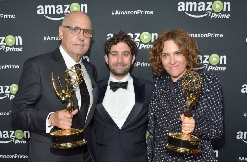 LOS ANGELES, CA - SEPTEMBER 20: (L-R) Actor Jeffrey Tambor, Head of Comedy at Amazon Studios Joe Lewis and executive producer/writer Jill Soloway attend Amazon Prime's Emmy Celebration at The Standard Hotel on September 20, 2015 in Los Angeles, California. (Photo by Charley Gallay/Getty Images for Amazon Studios)