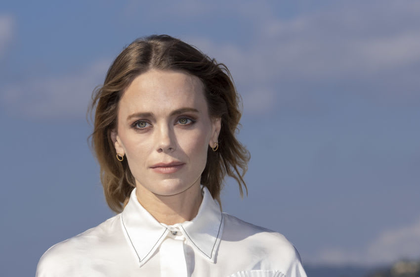 CANNES, FRANCE - OCTOBER 14: Katia Winter attends ' Agent Hamilton ' photocall during day one of the MIPCOM 2019 on October 14, 2019 in Cannes, France. (Photo by Arnold Jerocki/Getty Images)