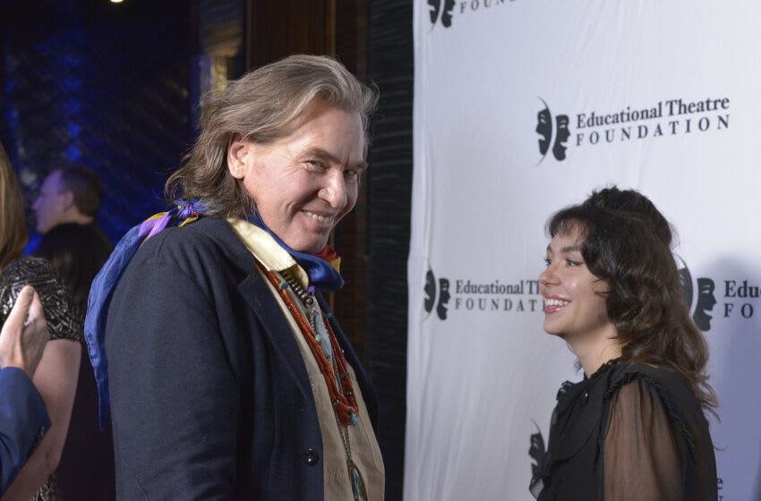 LOS ANGELES, CALIFORNIA - NOVEMBER 18: Actor Val Kilmer (L) attends the 2019 annual Thespians Go Hollywood Gala at Avalon Hollywood on November 18, 2019 in Los Angeles, California. (Photo by Michael Tullberg/Getty Images)