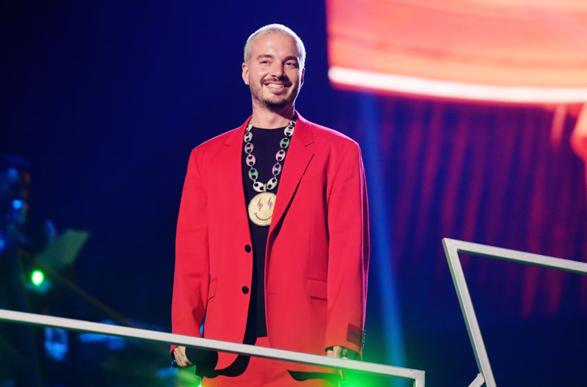 MEXICO CITY, MEXICO - MARCH 05: J Balvin speaks onstage during the 2020 Spotify Awards at the Auditorio Nacional on March 05, 2020 in Mexico City, Mexico. (Photo by Matt Winkelmeyer/Getty Images for Spotify)