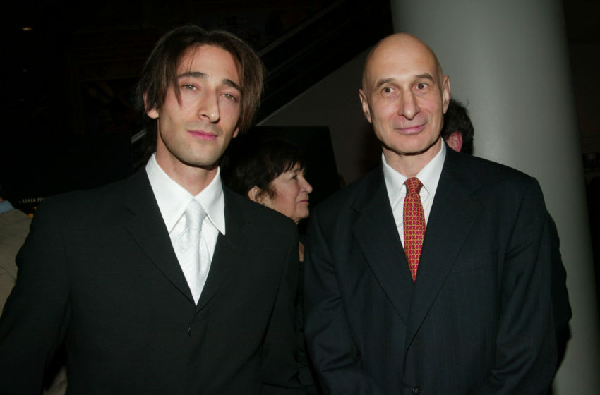 Actor Adrien Brody with Krzysztof Szpilman at the New York Premiere of