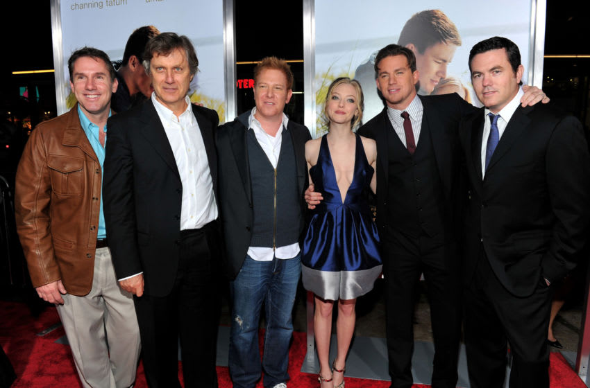 HOLLYWOOD - FEBRUARY 01: Author Nicholas Sparks, director Lasse Hallstrom, producer Ryan Kavanaugh, actress Amanda Seyfried, actor Channing Tatum and producer Tucker Tooley arrive at the premiere of Screen Gem's