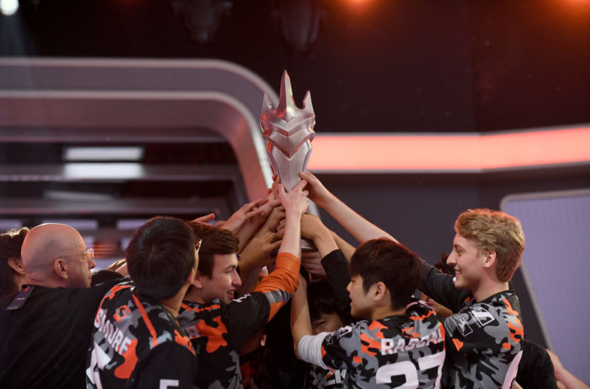 PHILADELPHIA, PENNSYLVANIA - SEPTEMBER 29: A view of The San Francisco Shock and Vancouver Titans will face off at the Overwatch League Grand Finals 2019 at Wells Fargo Center on September 29, 2019 in Philadelphia, Pennsylvania. (Photo by Bryan Bedder/Getty Images for Blizzard Entertainment)