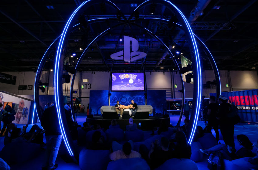 LONDON, ENGLAND - OCTOBER 17: A general view of the show floor as members of the public preview the latest games and upcoming releases during EGX 2019, the UK's premier video games show, at ExCel on October 17, 2019 in London, England. (Photo by Joe Brady/Getty Images)