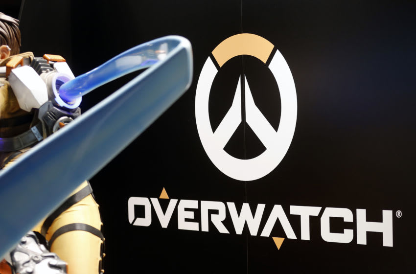 PARIS, FRANCE - OCTOBER 25: The Overwatch logo developed and published by Blizzard Entertainment is displayed during the 'Paris Games Week' on October 25, 2018 in Paris, France. 'Paris Games Week' is an international trade fair for video games and runs from October 26 to 31, 2018. Pro during the 'Paris Games Week' on October 25, 2018 in Paris, France. 'Paris Games Week' is an international trade fair for video games and runs from October 26 to 31, 2018. (Photo by Chesnot/Getty Images)