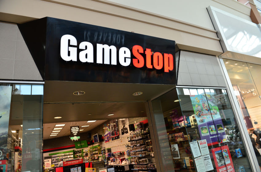 PEMBROKE PINES, FLORIDA - JULY 21: An exterior view of a GameStop store on July 21, 2020 in Pembroke Pines, Florida. GameStop is among the latest retailers requiring masks to be worn in their stores to control the spread of the coronavirus (COVID-19). However, despite GameStop masks requirement to enter stores, employees cannot actually refuse service to customers without one. (Photo by Johnny Louis/Getty Images)