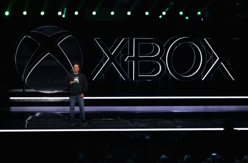 LOS ANGELES, CALIFORNIA - JUNE 09: Phil Spencer, Executive President of Gaming at Microsoft, speaks during the Xbox E3 2019 Briefing at The Microsoft Theater on June 09, 2019 in Los Angeles, California. (Photo by Christian Petersen/Getty Images)