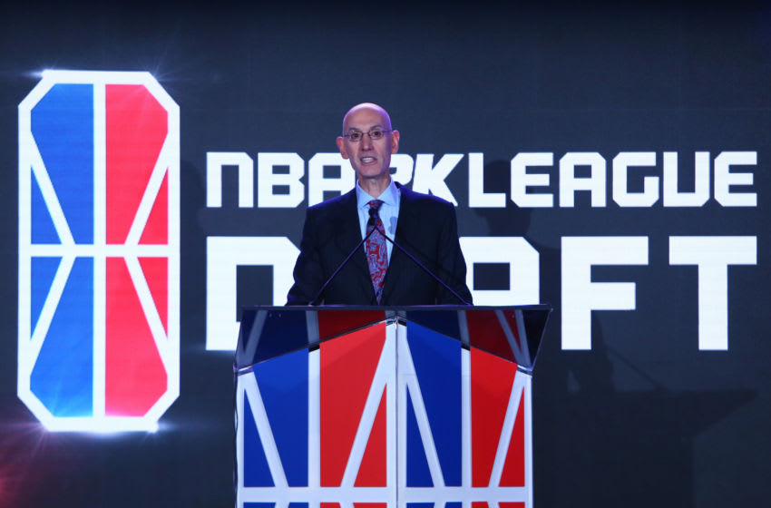 NEW YORK, NY - APRIL 04: NBA Commissioner Adam Silver anounces the #1 overall pick in the first during NBA 2K League Draft at Madison Square Garden on April 4, 2018 in New York City. (Photo by Mike Stobe/Getty Images)