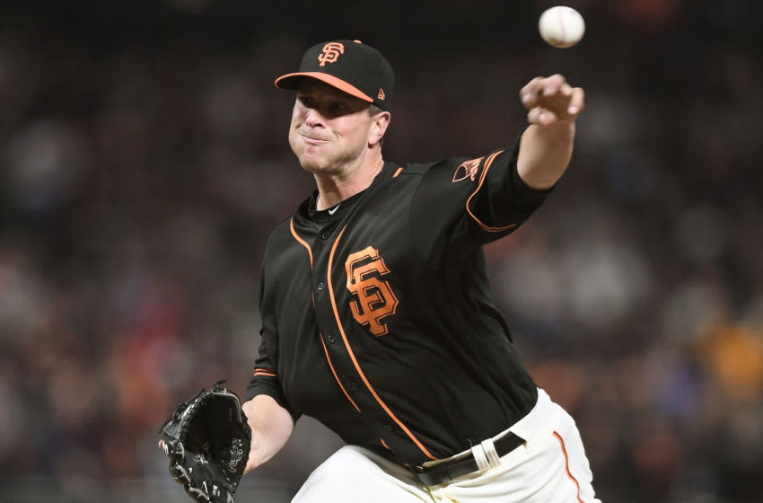 Giants reliever Tony Watson. (Photo by Thearon W. Henderson/Getty Images)