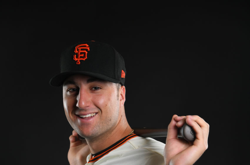 Joey Bart #67 of the San Francisco Giants. (Photo by Jamie Schwaberow/Getty Images)