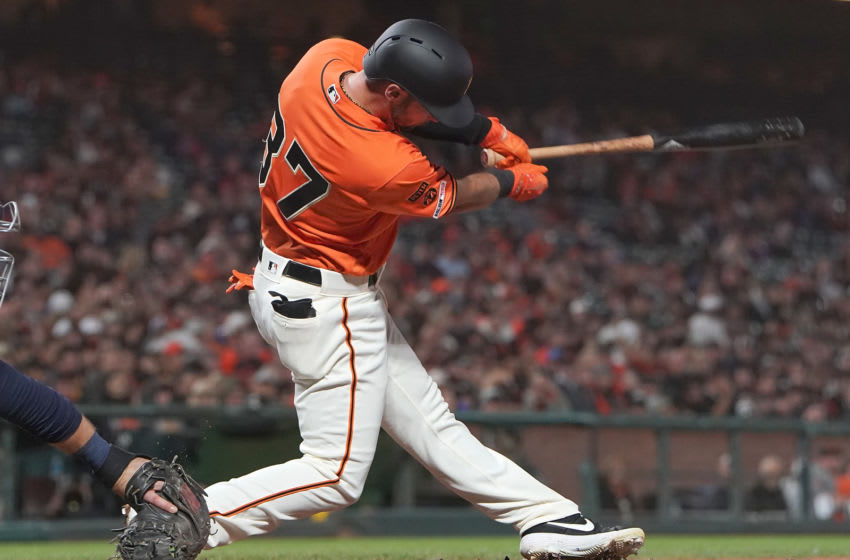 Joey Rickard SF Giants. (Photo by Thearon W. Henderson/Getty Images)
