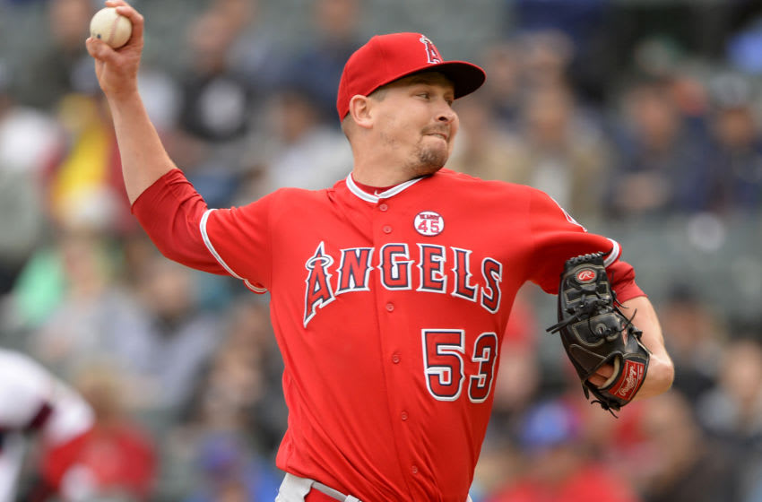 Giants pitcher Trevor Cahill. (Photo by Ron Vesely/MLB Photos via Getty Images)