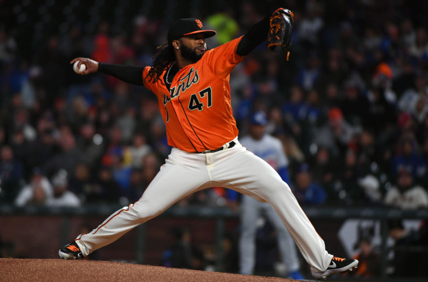 SF Giants pitcher Johnny Cueto. (Photo by Robert Reiners/Getty Images)