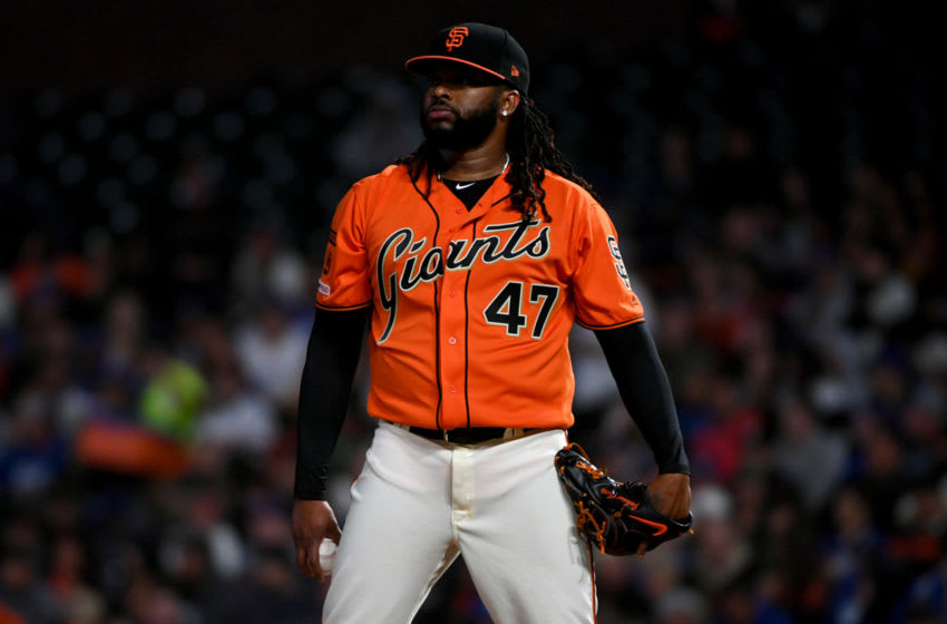 SF Giants' starter Johnny Cueto. (Photo by Robert Reiners/Getty Images)
