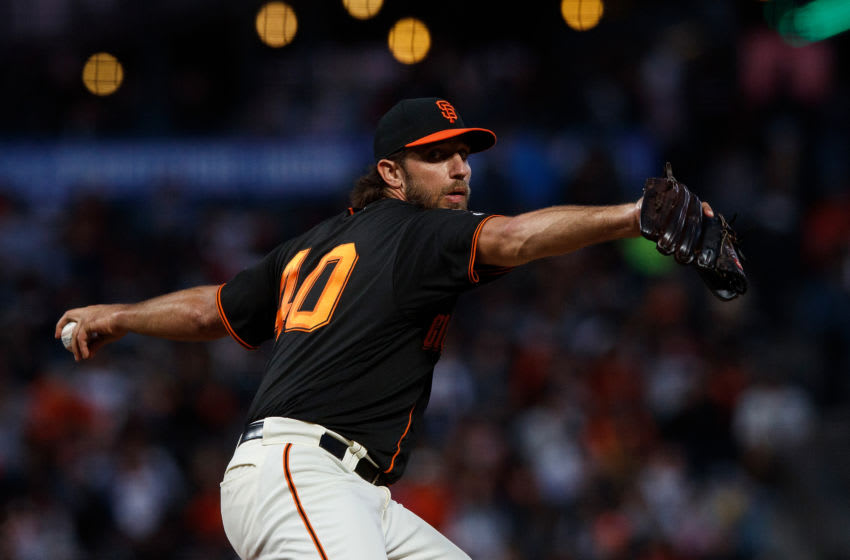 Former Giants pitcher Madison Bumgarner. (Photo by Jason O. Watson/Getty Images)