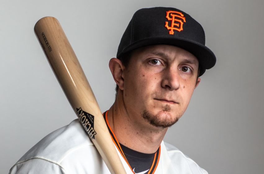 SF Giants outfielder Alex Dickerson. (Photo by Rob Tringali/Getty Images)