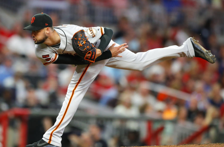 Tyler Beede of the SF Giants. (Photo by Todd Kirkland/Getty Images)