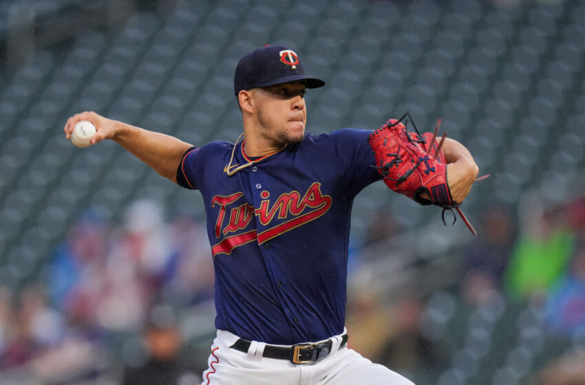 Minnesota Twins starting pitcher Jose Berrios (17) pitches against the Chicago White Sox in the first inning at Target Field. (Brad Rempel-USA TODAY Sports)