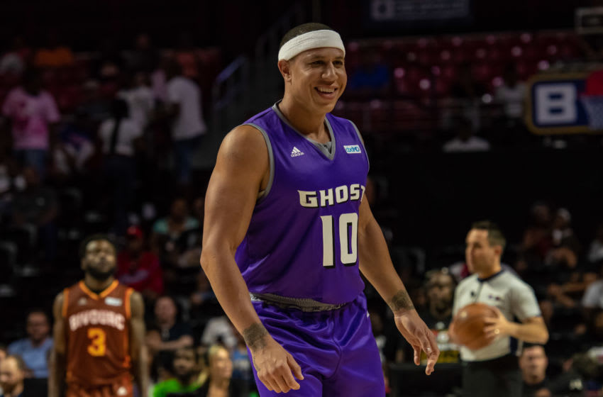 PHILADELPHIA, PA - JUNE 30: Ghost Ballers player Mike Bibby (10) during the BIG3 basketball game between Bivouac and Ghost Ballers on June 30, 2019 at Liacouras Center in Philadelphia, PA (Photo by John Jones/Icon Sportswire via Getty Images)
