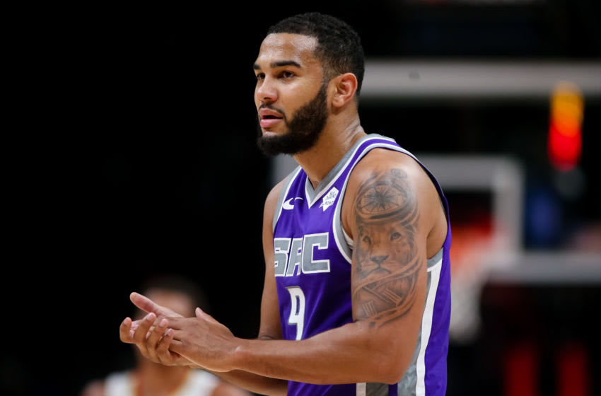 ATLANTA, GA - NOVEMBER 8: Cory Joseph #9 of the Sacramento Kings looks on during a game against the Atlanta Hawks at State Farm Arena on November 8, 2019 in Atlanta, Georgia. NOTE TO USER: User expressly acknowledges and agrees that, by downloading and or using this photograph, User is consenting to the terms and conditions of the Getty Images License Agreement. (Photo by Carmen Mandato/Getty Images)