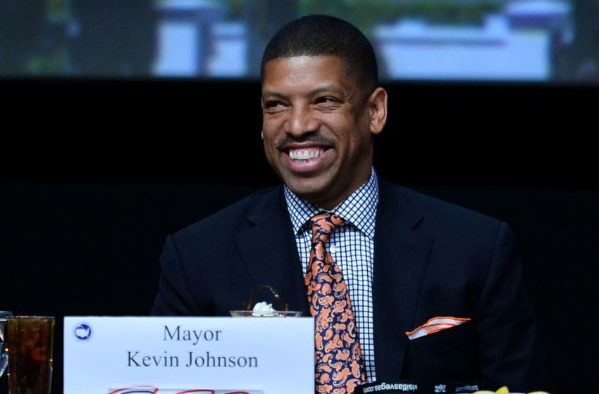 LAS VEGAS, NV - JUNE 21: Sacramento Mayor Kevin Johnson smiles at the 81st annual U.S. Conference of Mayors at the Mandalay Bay Convention Center on June 21, 2013 in Las Vegas, Nevada. U.S. Vice President Joe Biden spoke at the conference addressing about 150 mayors from across the country on issues including the economy, immigration reform and gun violence. (Photo by Ethan Miller/Getty Images)