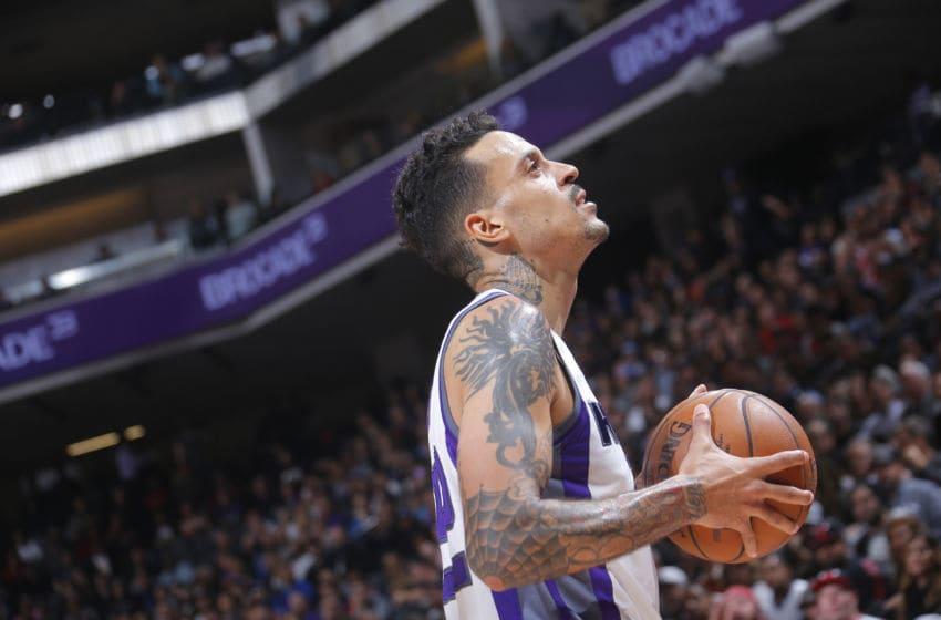 SACRAMENTO, CA - FEBRUARY 6: Matt Barnes #22 of the Sacramento Kings looks on during the game against the Chicago Bulls on February 6, 2017 at Golden 1 Center in Sacramento, California. NOTE TO USER: User expressly acknowledges and agrees that, by downloading and or using this photograph, User is consenting to the terms and conditions of the Getty Images Agreement. Mandatory Copyright Notice: Copyright 2017 NBAE (Photo by Rocky Widner/NBAE via Getty Images)