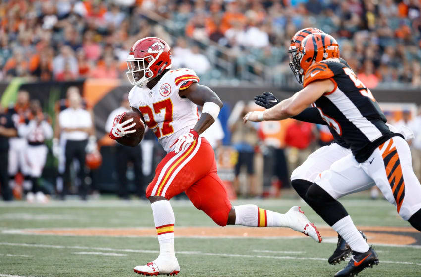 CINCINNATI, OH - AUGUST 19: Kareem Hunt