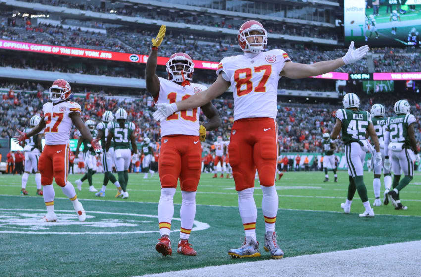 EAST RUTHERFORD, NJ - DECEMBER 03: Travis Kelce
