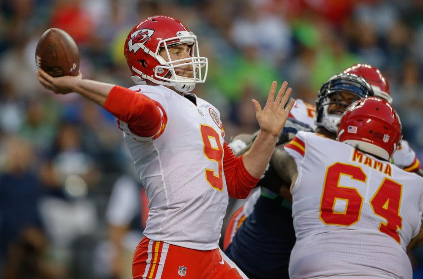 SEATTLE, WA - AUGUST 25: Quarterback Tyler Bray