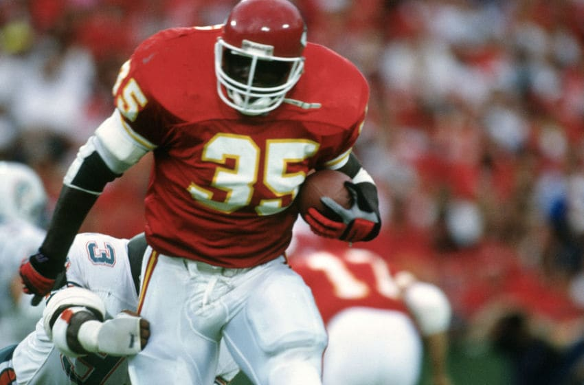 Christian Okoye of the Kansas City Chiefs (Photo by Focus on Sport/Getty Images)