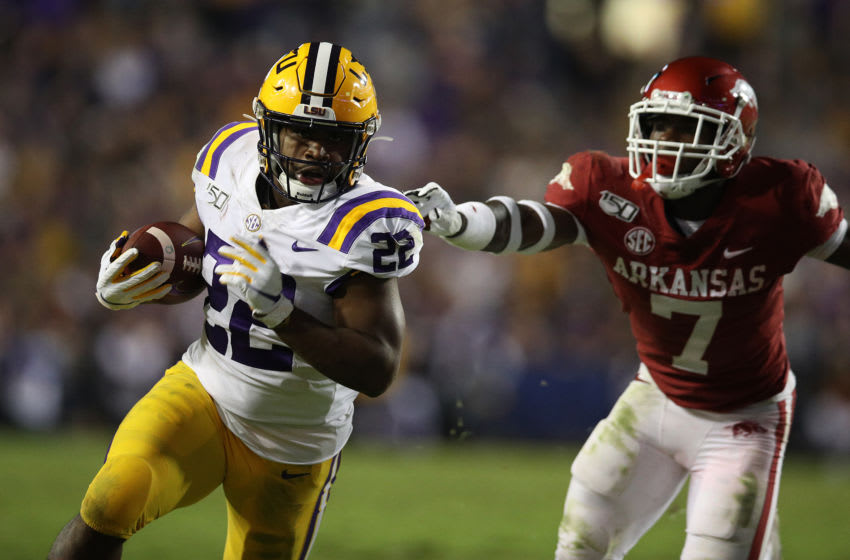 LSU running back Clyde Edwards-Helaire (Photo by Chris Graythen/Getty Images)