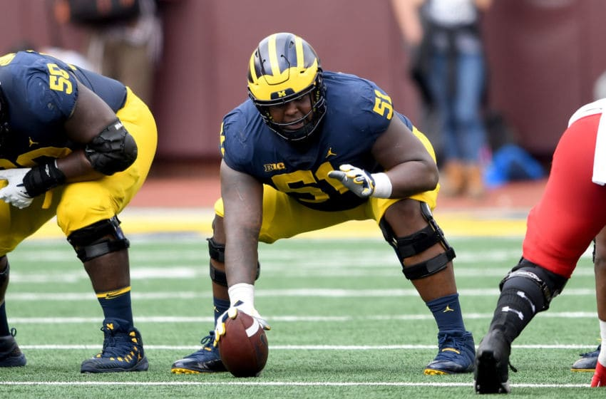 Michigan center Cesar Ruiz (Photo by G Fiume/Maryland Terrapins/Getty Images)