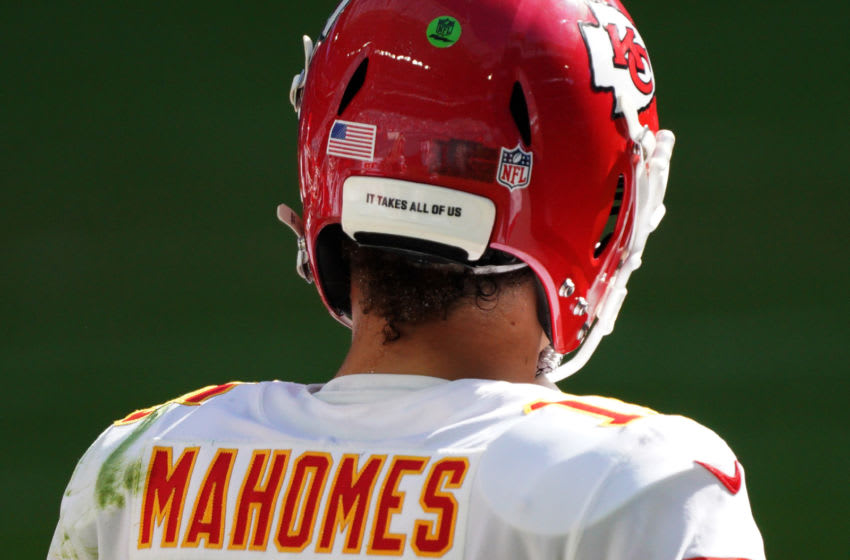 MIAMI GARDENS, FLORIDA - DECEMBER 13: Patrick Mahomes #15 of the Kansas City Chiefs under center during the game against the Miami Dolphins at Hard Rock Stadium on December 13, 2020 in Miami Gardens, Florida. (Photo by Mark Brown/Getty Images)