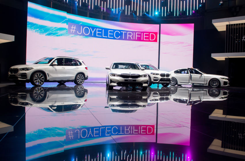GENEVA, SWITZERLAND - MARCH 05: BMW 3 series are displayed during the first press day at the 89th Geneva International Motor Show on March 5, 2019 in Geneva, Switzerland. (Photo by Robert Hradil/Getty Images)