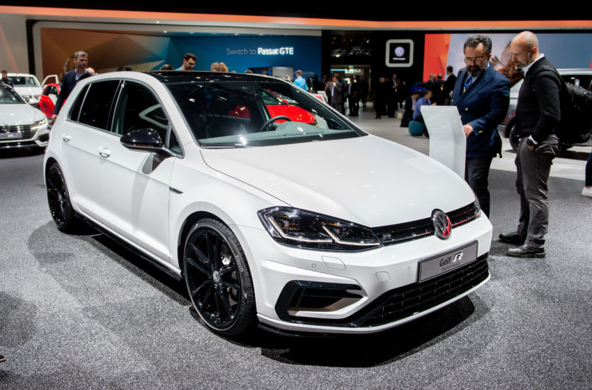 GENEVA, SWITZERLAND - MARCH 05: Volkswagen Golf is displayed during the first press day at the 89th Geneva International Motor Show on March 5, 2019 in Geneva, Switzerland. (Photo by Robert Hradil/Getty Images)
